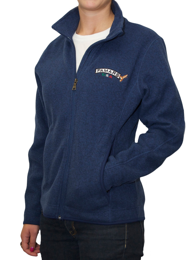 Women's Full Zip Sweatshirt with Fleece Interior