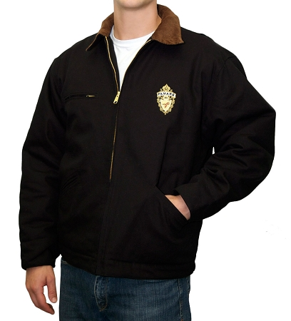 Men's Black Canvas Jacket